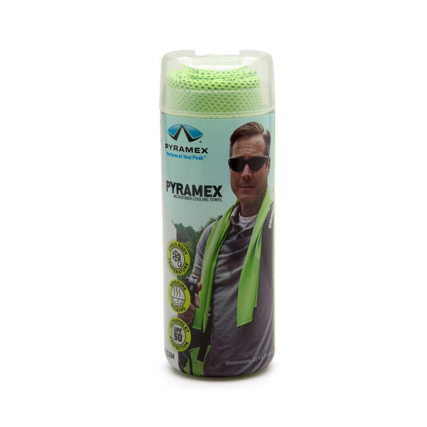 Pyramex Case of 50 Green Moisture Wicking Cooling Towels C330-CASE Container