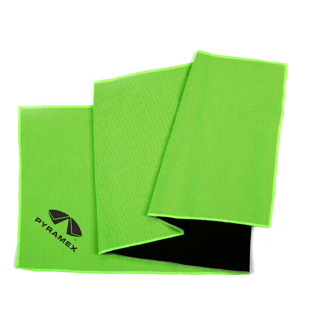 Pyramex Case of 50 Green Moisture Wicking Cooling Towels C330-CASE Folded