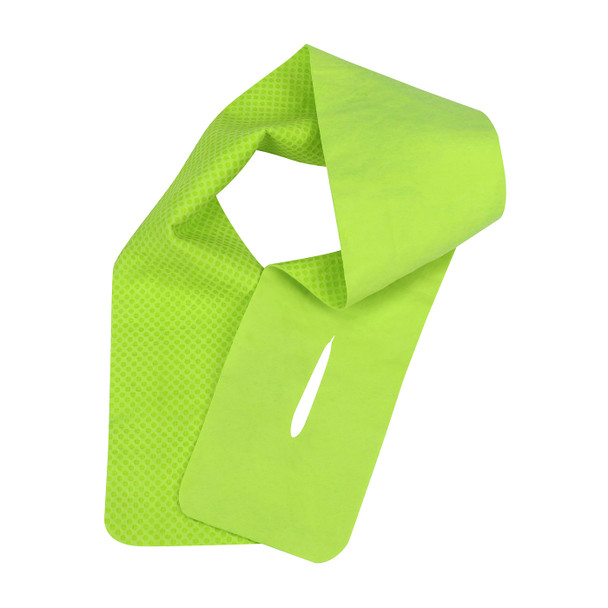 PIP Box of 12 Evaporative Hi Vis Lime Cooling Neck Wraps 393-650-L-DZN Lime Version