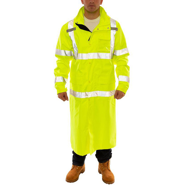 Tingley Class 3 Hi Vis Yellow Icon Raincoat C24122 Front of the Jacket
