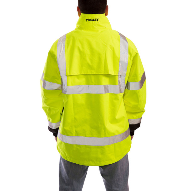 Tingley Class 3 Hi Vis Yellow Black Bottom Icon Jacket J24122 Back