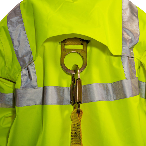 Tingley Class 3 Hi Vis Yellow Black Bottom Icon Jacket J24122 D-Ring Access