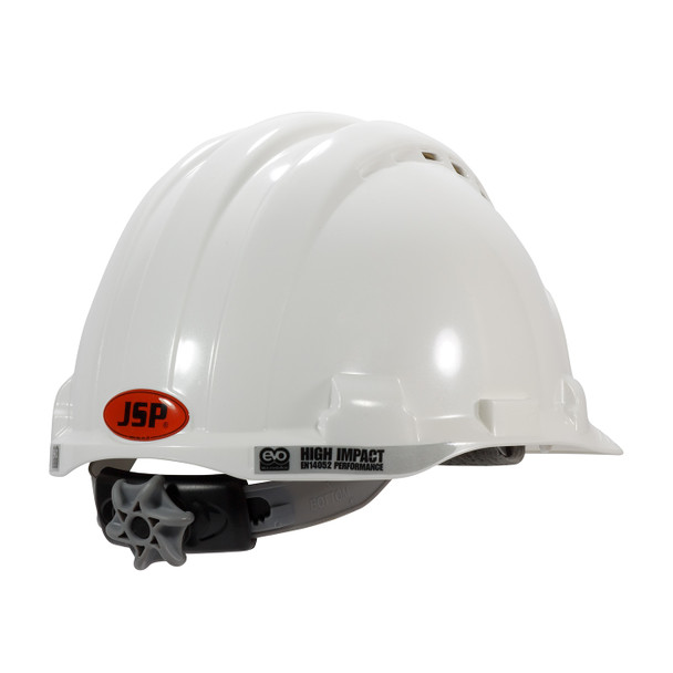 PIP Class C MK8 Evolution Vented Type II Hard Hat with HDPE Shell and EPS Impact Liner 280-AHS150V Back Right