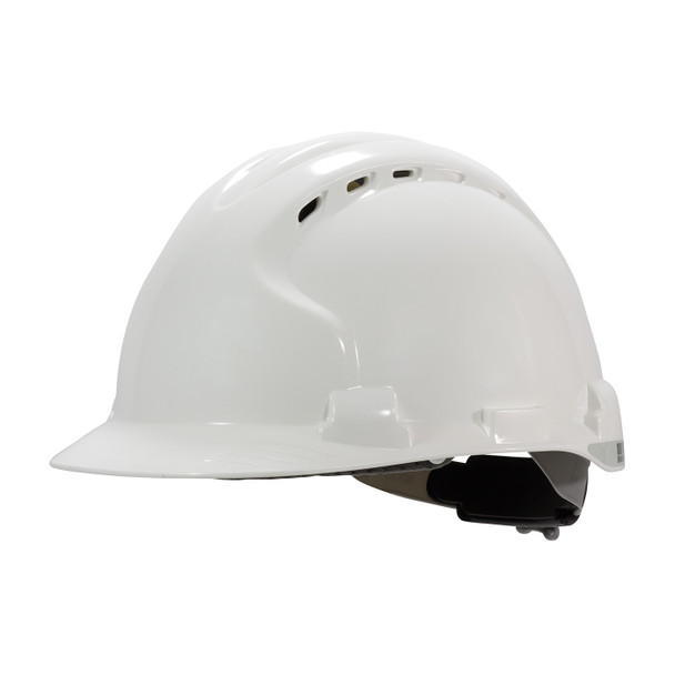 PIP Class C MK8 Evolution Vented Type II Hard Hat with HDPE Shell and EPS Impact Liner 280-AHS150V Left Diagonal