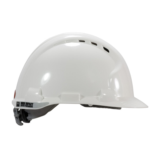 PIP Class C MK8 Evolution Vented Type II Hard Hat with HDPE Shell and EPS Impact Liner 280-AHS150V Ride Side Profile