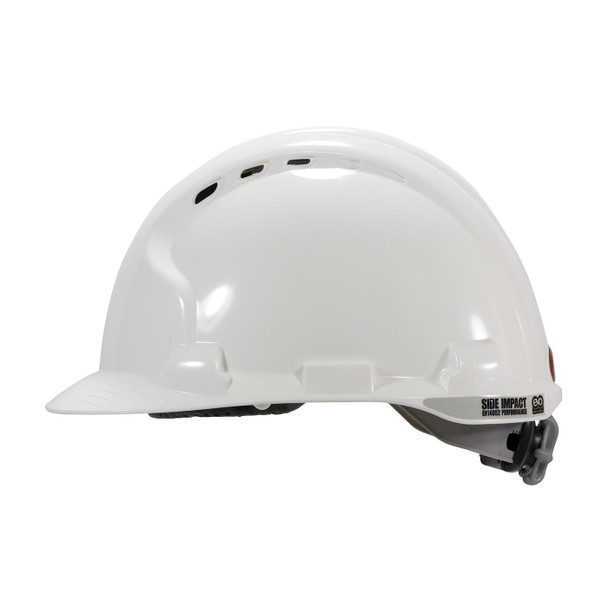 PIP Class C MK8 Evolution Vented Type II Hard Hat with HDPE Shell and EPS Impact Liner 280-AHS150V Left Side Profile