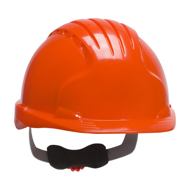 PIP Class E Evolution Deluxe 6151 Cap Style Hard Hat with 6-Point Ratchet Adjustment 280-EV6151 Neon Orange
