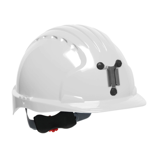 PIP Evolution Deluxe 6151 Made in USA Standard Brim Mining Hard Hat 280-EV6151M - Box of 10 White