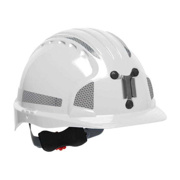 PIP Evolution Deluxe 6151 Standard Brim Mining Hard Hat with Reflective Kit 280-EV6151MCR2 White