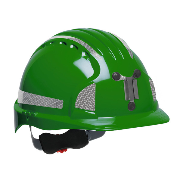 PIP Evolution Deluxe 6151 Standard Brim Mining Hard Hat with Reflective Kit 280-EV6151MCR2 Green