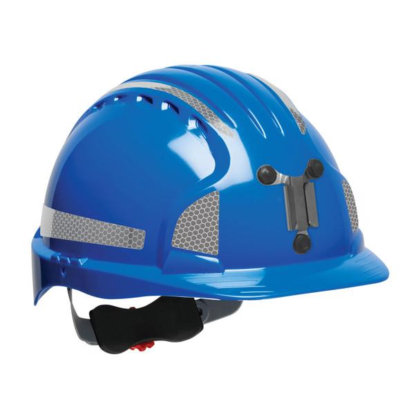 PIP Evolution Deluxe 6151 Standard Brim Mining Hard Hat with Reflective Kit 280-EV6151MCR2 Blue