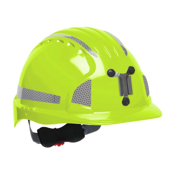PIP Evolution Deluxe 6151 Standard Brim Mining Hard Hat with Reflective Kit 280-EV6151MCR2 Neon Yellow