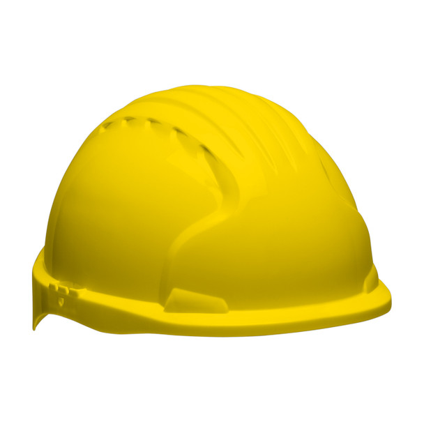 PIP Class E Short Brim Hard Hat with 6-Point Ratchet Adjustment 280-EV6151S Yellow