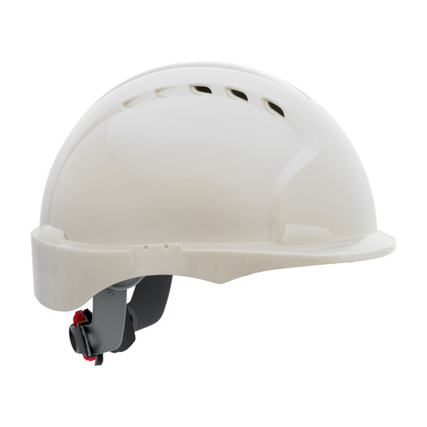 PIP Class C Made in USA Vented Short Brim Hard Hat with 6-PT Ratchet 280-EV6151SV - Box of 10 White