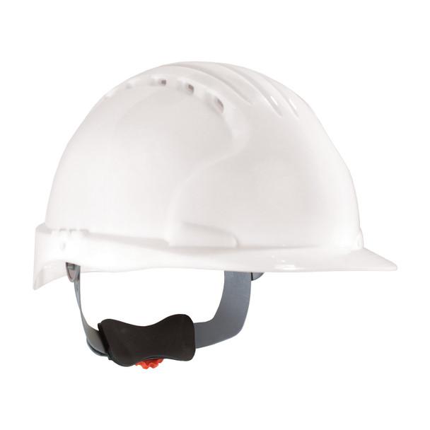 PIP Class C Vented Standard Brim Hard Hat with 6-Point Ratchet Adjustment 280-EV6151V White
