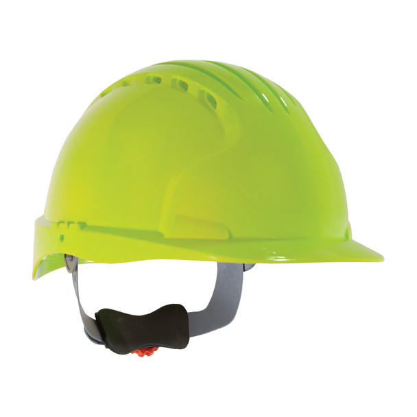 PIP Class C Vented Standard Brim Hard Hat with 6-Point Ratchet Adjustment 280-EV6151V Neon Yellow