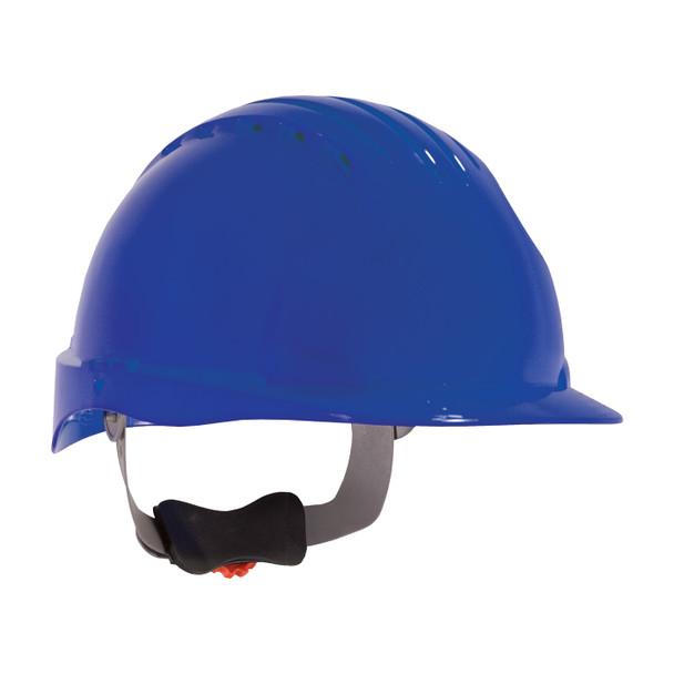PIP Class C Vented Standard Brim Hard Hat with 6-Point Ratchet Adjustment 280-EV6151V Blue