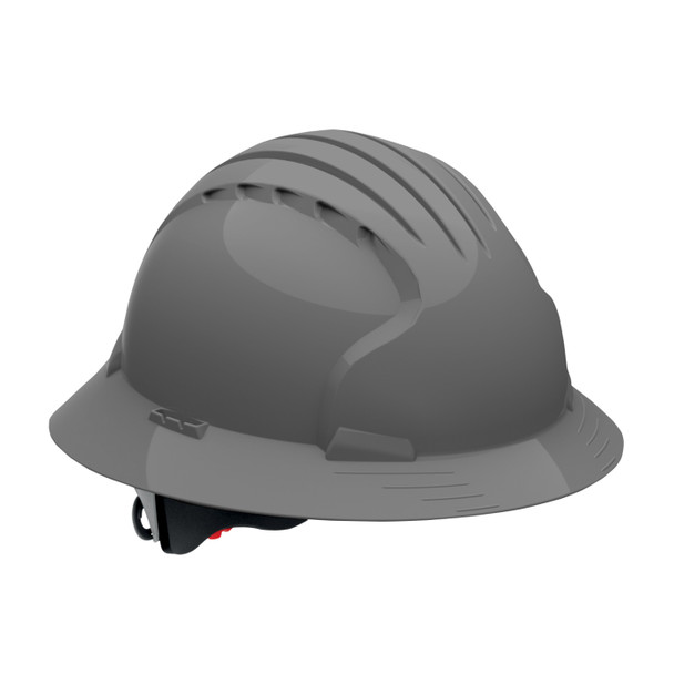 PIP Class E Full Brim Hard Hat with 6-Point Ratchet Adjustment 280-EV6161 Gray