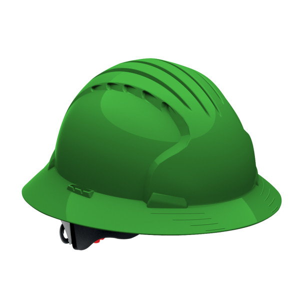PIP Class E Full Brim Hard Hat with 6-Point Ratchet Adjustment 280-EV6161 Green