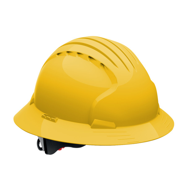 PIP Class E Full Brim Hard Hat with 6-Point Ratchet Adjustment 280-EV6161 Yellow