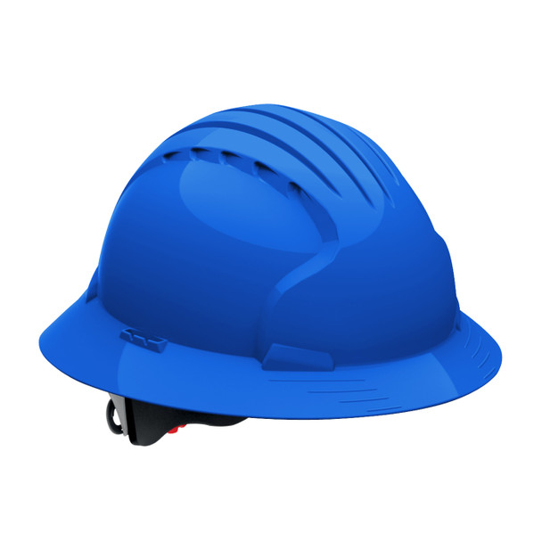 PIP Class E Full Brim Hard Hat with 6-Point Ratchet Adjustment 280-EV6161 Blue