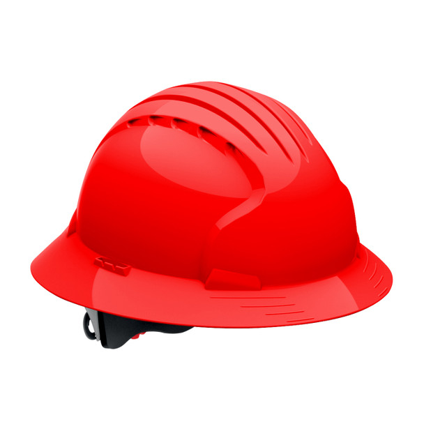 PIP Class E Full Brim Hard Hat with 6-Point Ratchet Adjustment 280-EV6161 Red