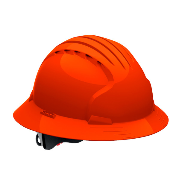 PIP Class E Full Brim Hard Hat with 6-Point Ratchet Adjustment 280-EV6161 Neon Orange