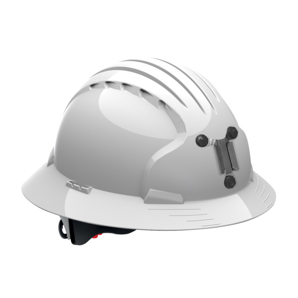 PIP Full Brim Mining Hard Hat with 6-Point Ratchet Adjustment 280-EV6161M White