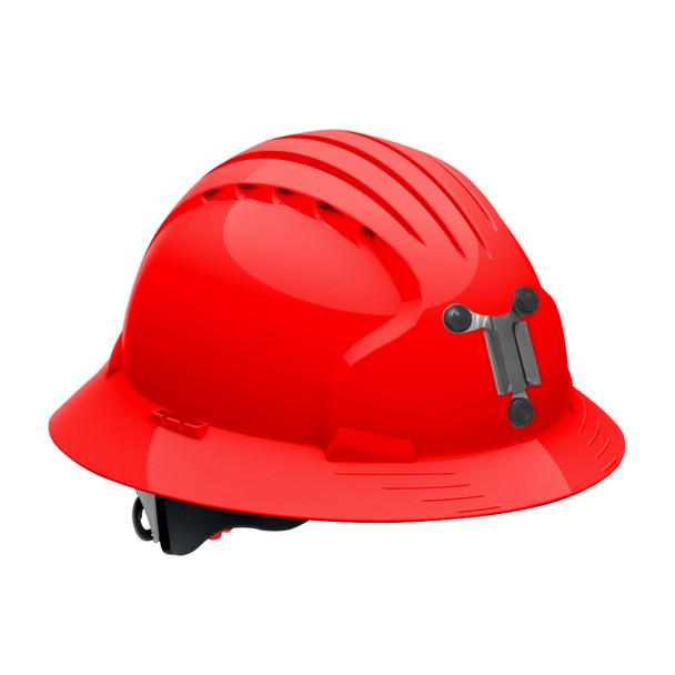 PIP Full Brim Mining Hard Hat with 6-Point Ratchet Adjustment 280-EV6161M Red