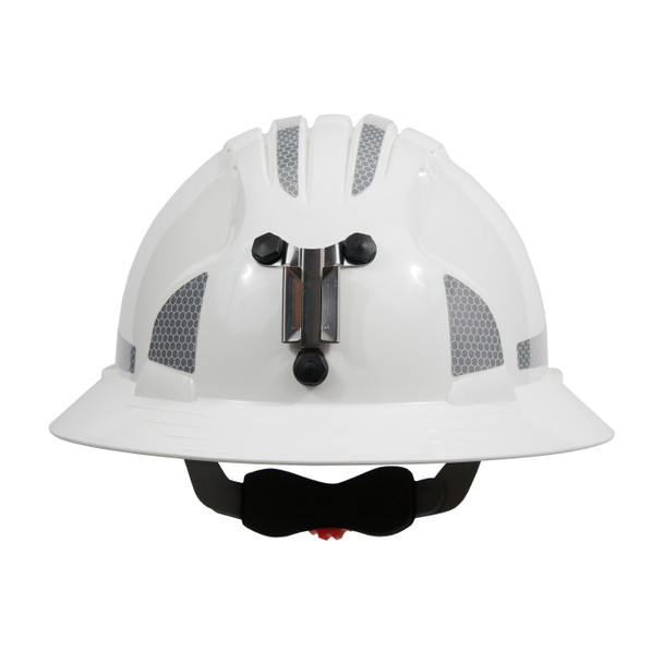 PIP Full Brim Mining Hard Hat with Reflective Kit and 6-Point Ratched Adjustment 280-EV6161MCR2 Front