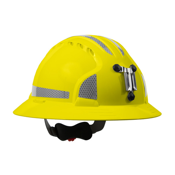 PIP Full Brim Mining Hard Hat with Reflective Kit and 6-Point Ratched Adjustment 280-EV6161MCR2 Yellow