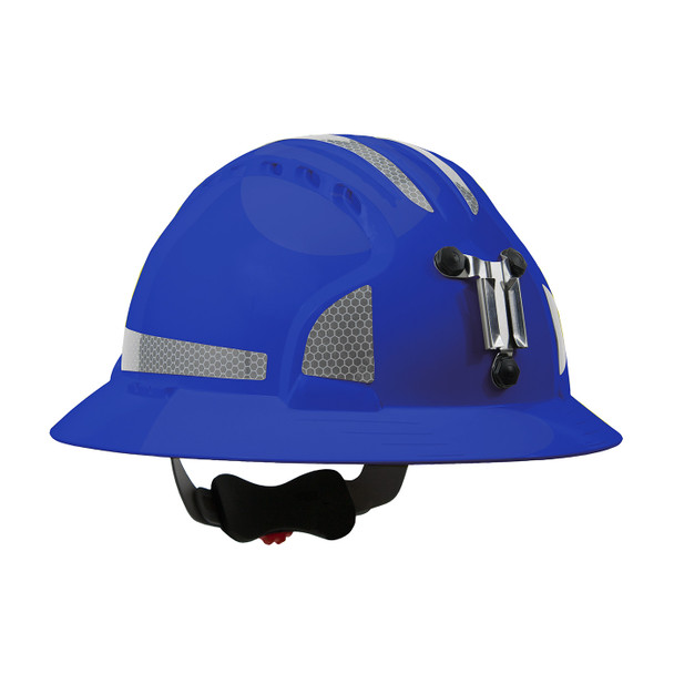 PIP Full Brim Mining Hard Hat with Reflective Kit and 6-Point Ratched Adjustment 280-EV6161MCR2 Blue