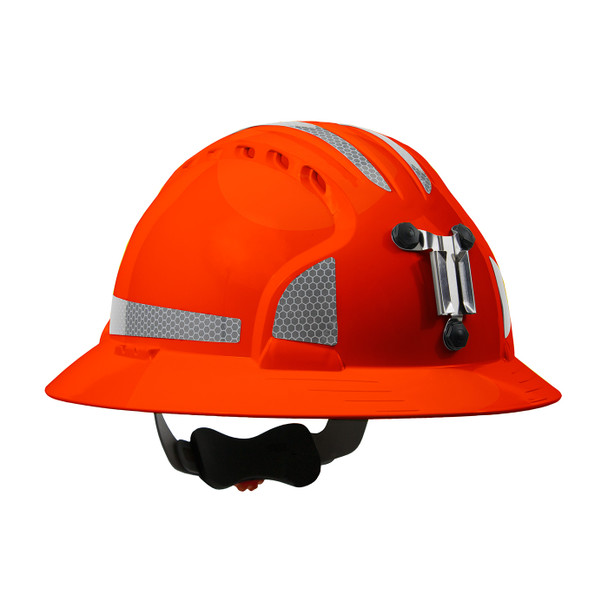 PIP Full Brim Mining Hard Hat with Reflective Kit and 6-Point Ratched Adjustment 280-EV6161MCR2 Neon Orange