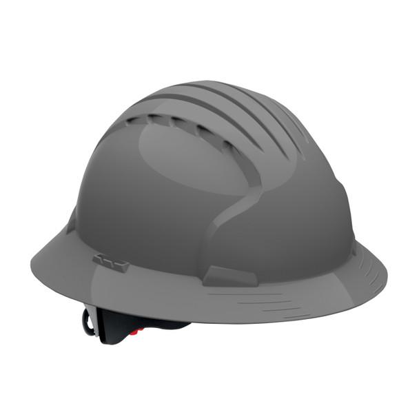 PIP Class C Vented Full Brim Hard Hat with 6-Point Ratchet Adjusment 280-EV6161V Gray