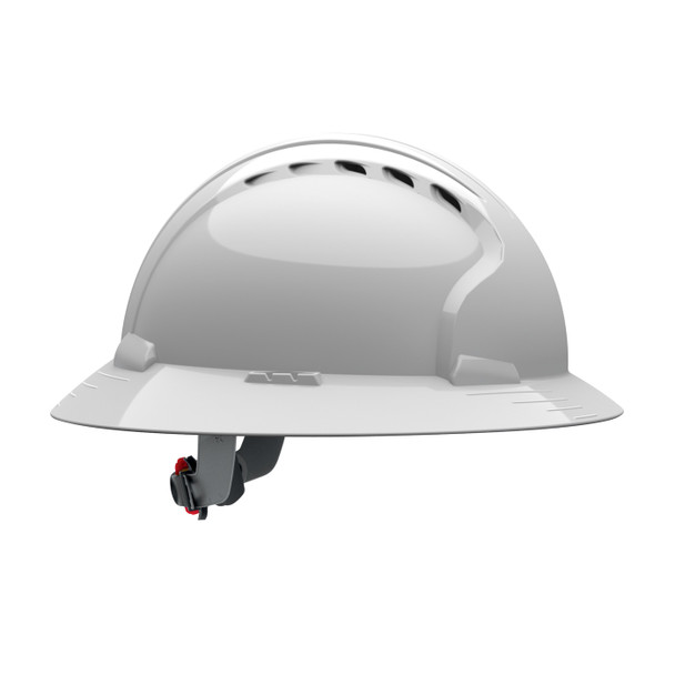 PIP Class C Vented Full Brim Made in USA Hard Hat with 6-Pt Ratchet Adjustment 280-EV6161V - Box of 10 Side Profile