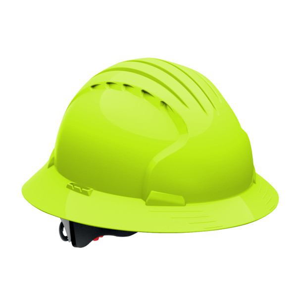 PIP Class C Vented Full Brim Hard Hat with 6-Point Ratchet Adjusment 280-EV6161V Neon Yellow