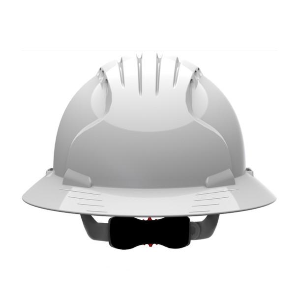 PIP Class C Vented Full Brim Hard Hat with 6-Point Ratchet Adjusment 280-EV6161V Frontside
