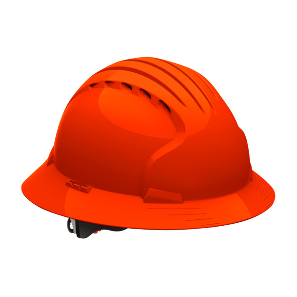 PIP Class C Vented Full Brim Hard Hat with 6-Point Ratchet Adjusment 280-EV6161V Neon Orange