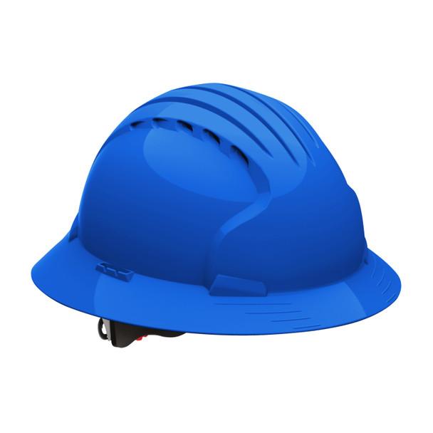 PIP Class C Vented Full Brim Hard Hat with 6-Point Ratchet Adjusment 280-EV6161V Blue
