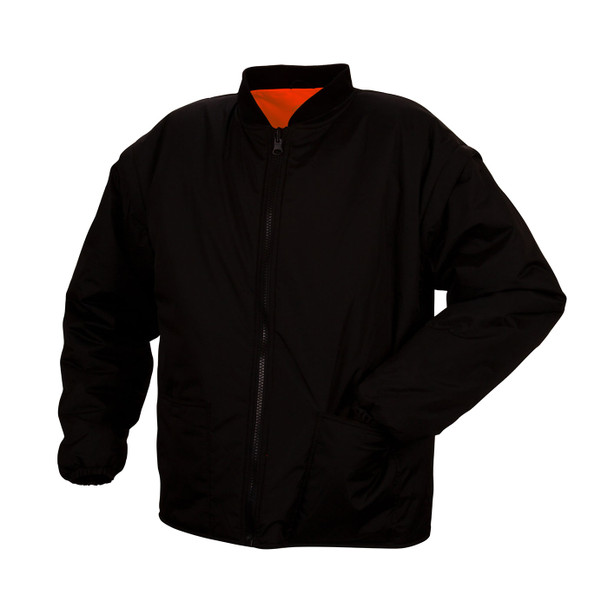 Pyramex Class 3 Hi Vis Orange Two-Tone X-Back Black Bottom Trim 7-in-1 Parka RC7P3520 Inner Jacket Reversed