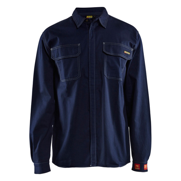 Blaklader FR Navy Blue Long Sleeve Shirt 327615518900 Front