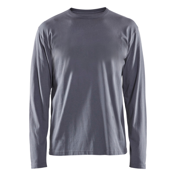 Blaklader Grey Long Sleeve T-Shirt 355910429400 Front