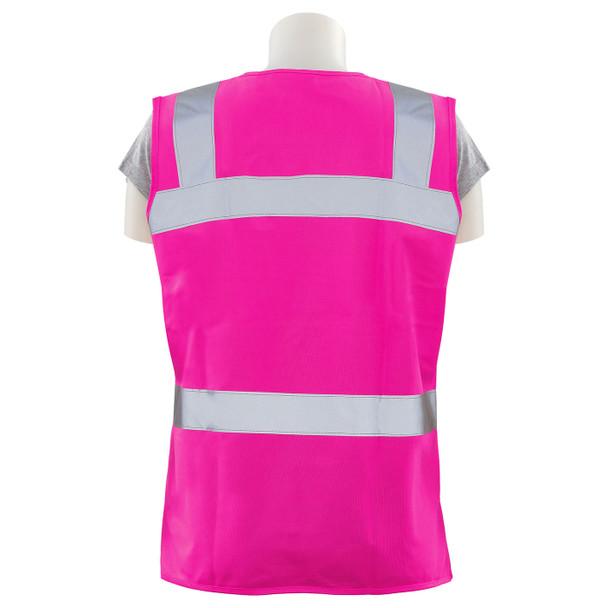 Girl Power at Work Non-ANSI Hi Vis Pink Ladies Fitted Vest S721 Back