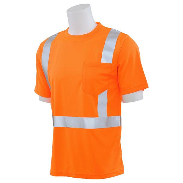 ERB Class 2 Hi Vis Orange Moisture Wicking T-Shirt 9006S-O Left Profile
