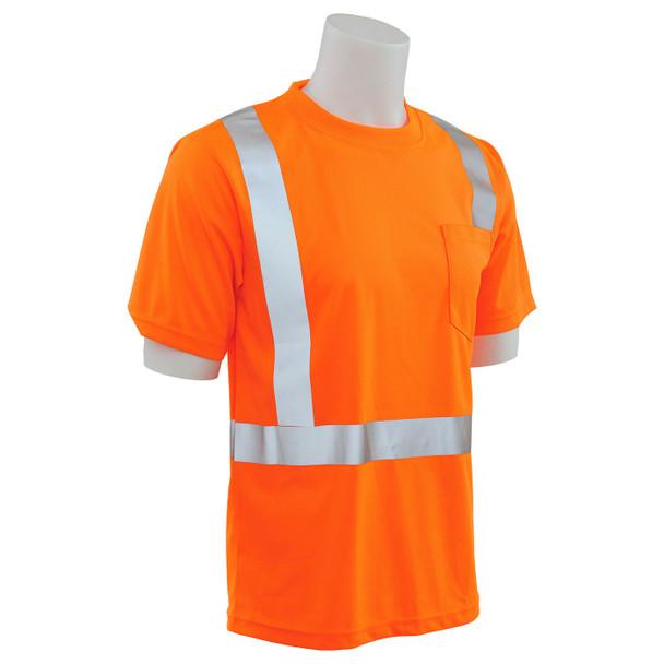 ERB Class 2 Hi Vis Orange Moisture Wicking T-Shirt 9006S-O Right Profile