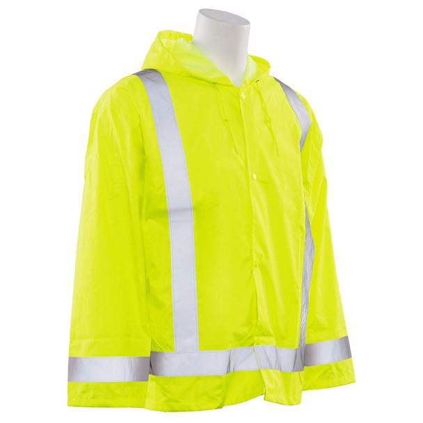 ERB Class 3 Hi Vis Lime Rain Jacket S373-L Right Side Profile