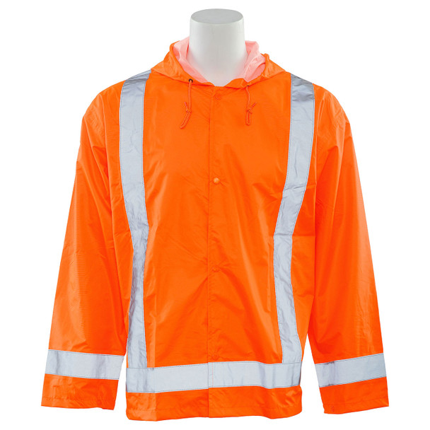 ERB Class 3 Hi Vis Orange Rain Jacket S373-O Front