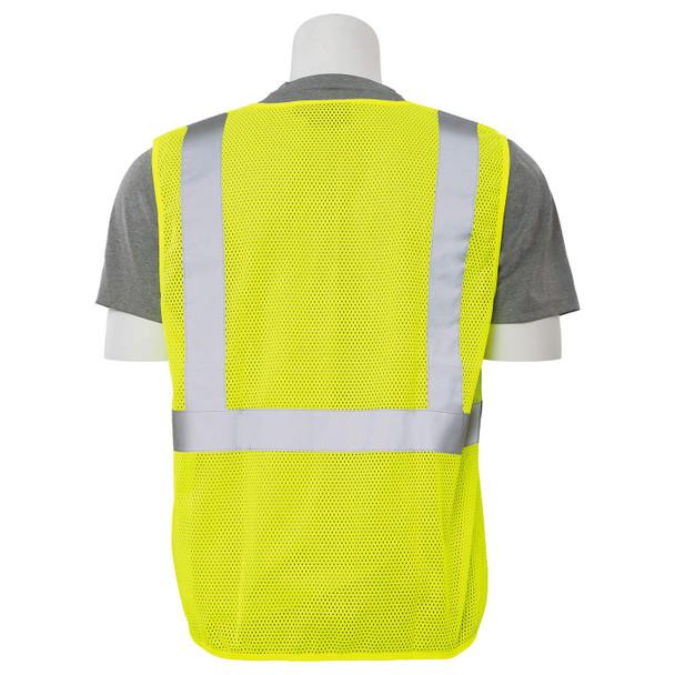 ERB Class 2 Hi Vis Lime Economy Mesh Safety Vest S362-L Back