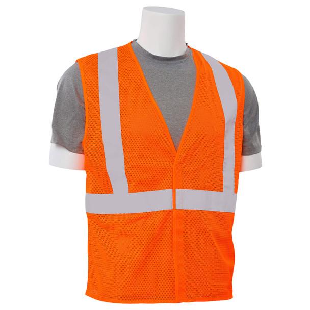 ERB Class 2 Hi Vis Orange Economy Mesh Safety Vest S362-O Right Side Profile