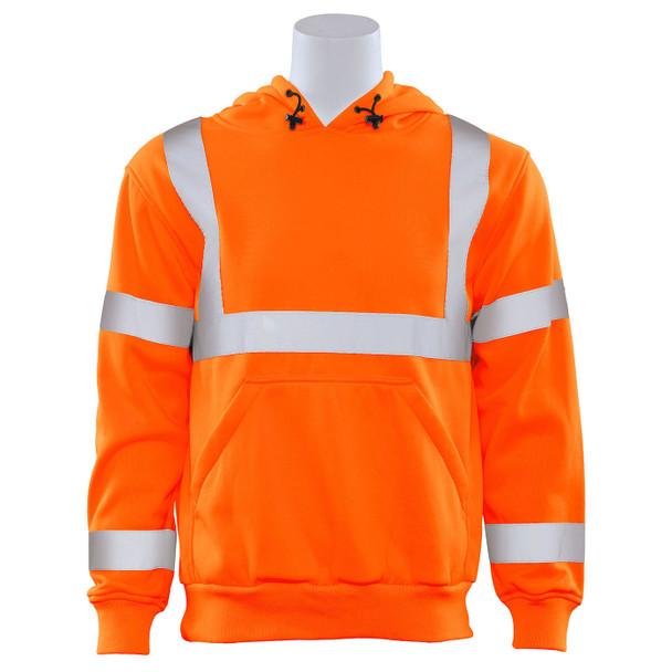 ERB Class 3 Hi Vis Orange Pullover Hooded Sweatshirt W376-O Front